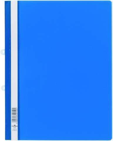 Schnellhefter Hartfolie mit Abheftmechanik DURABLE A4 blau 25St.