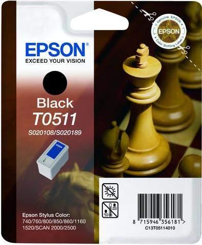 Tintenpatrone Epson T0511 C13T05114010 schwarz 24ml 900Seiten