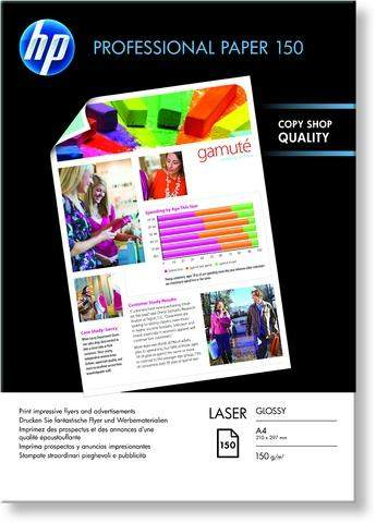 Laserpapier HP Professional 150 A4 150g weiß glänzend 150 Blatt