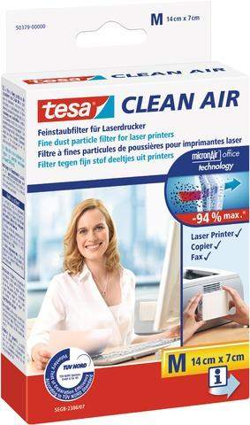 Feinstaubfilter CLEAN AIR TESA Größe M 14 x 7 cm für Drucker