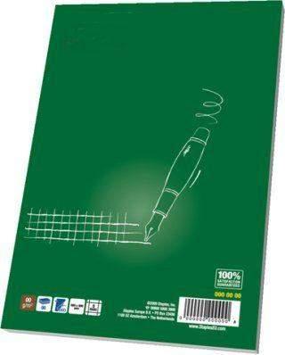Briefblock A5 kariert 70g/m² RC 50 Blatt recycling