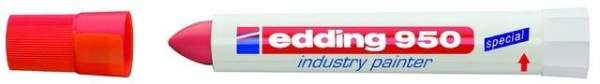 Spezialmarker Edding 950 industry painter 10 mm rot / 1 St.