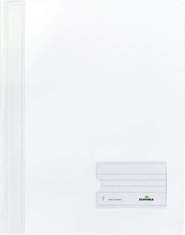 Sichthefter A4 mit Abheftrand DURALUX® Folie weiß transluzent