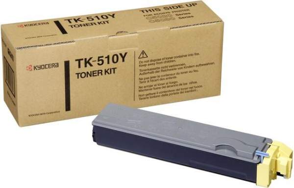 Toner Kyocera TK-510 yellow 8.000 Seiten f. FS-C5020N FS-C5025N FS-C5030N