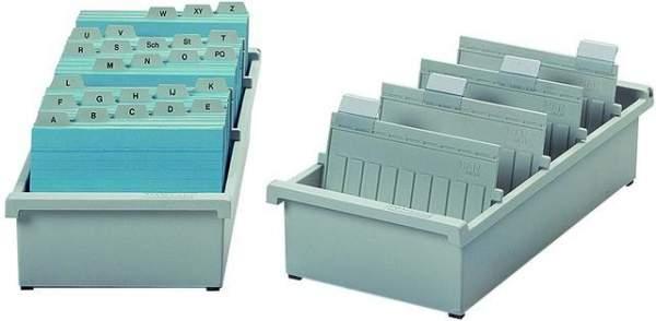 Karteitrog A4 quer 325x347x140mm für 1300 Karteikarten lichtgrau