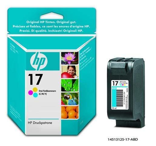Tintenpatrone Original HP C6625A Nr.17 color 15 ml / 1 St.