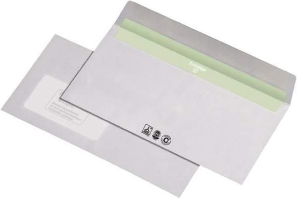 Briefumschlag DL hk mit Fenster RC deinkbarer Innendruck weiss Karton á 1000 St.