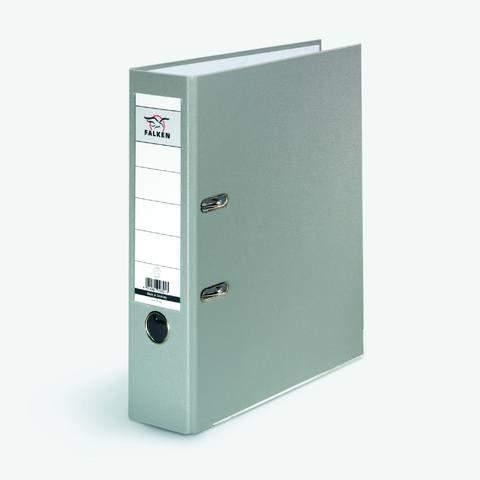 Ordner Falken PP-Color PP-kaschiert A4 80mm mit Einsteckrückenschild grau