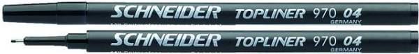 Finelinermine Mine Schneider Topliner 970 0.4mm schwarz 10 Stück