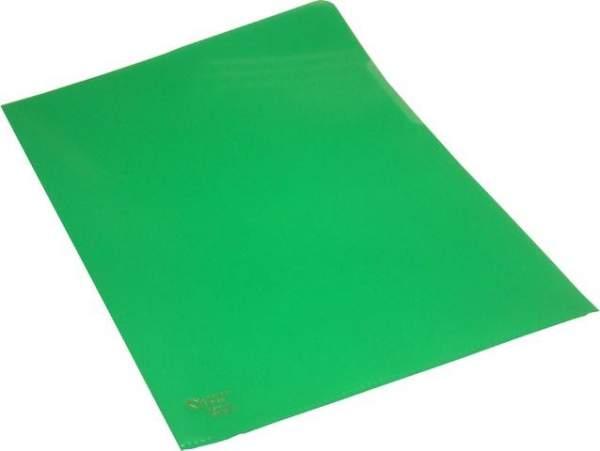 Sichthüllen A4 120 mµ genarbt oben + rechts offen grün 100 Stück