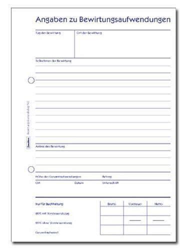 Bewirtungskostenbeleg Zweckform 745 DINA5 50 Blatt / 1 St.
