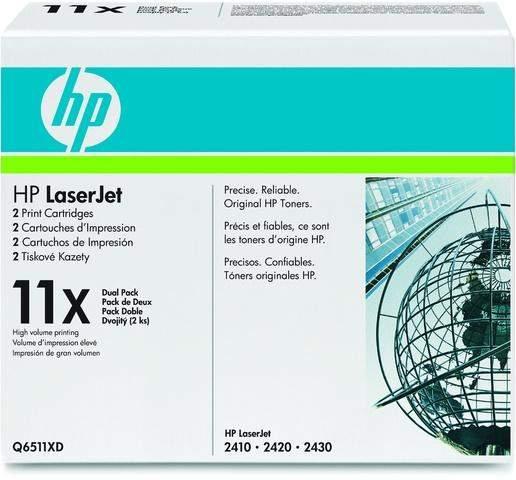 Toner HP 11X Q6511XD schwarz 12.000 Seiten für Laserjet 2er Pack