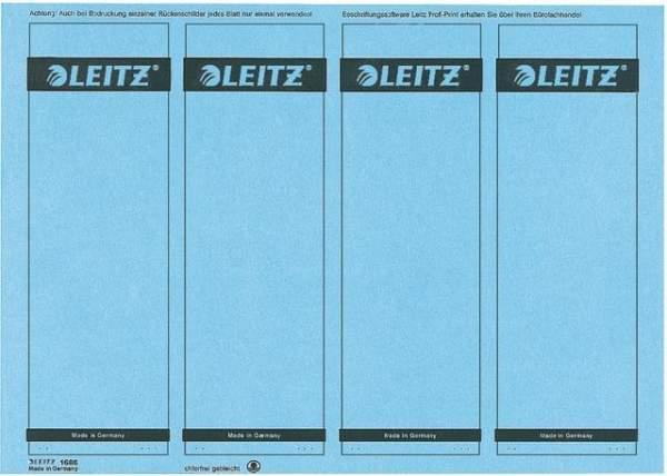 Rückenschilder Leitz 1685 PC-Beschriftung A4 breit 61x191mm blau 100 Stück