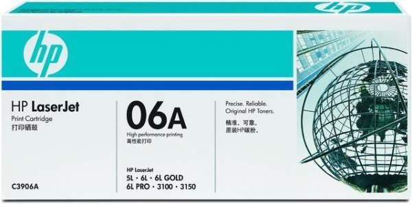 Toner HP 06A C3906A EP-A schwarz 2.500 Seiten f. Laserjet+Canon