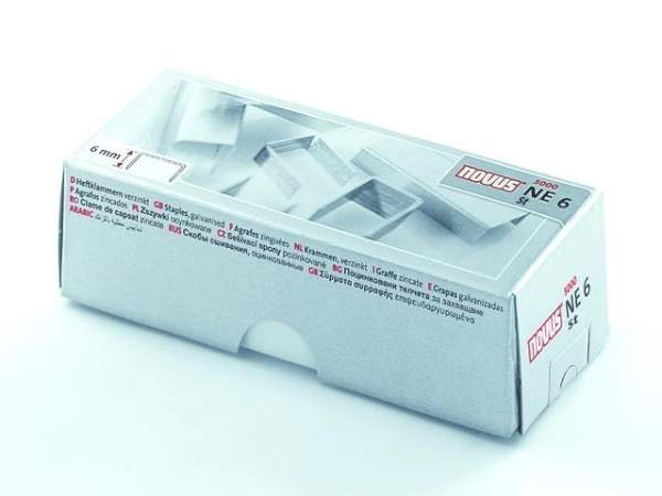Heftklammern NE6 SUPER verzinkt für Elektro Heftgeräte von Novus (5000 Stück)