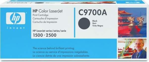 Toner HP C9700A f. Color LaserJet Serie 1500 2500 schwarz 5.000 Seiten