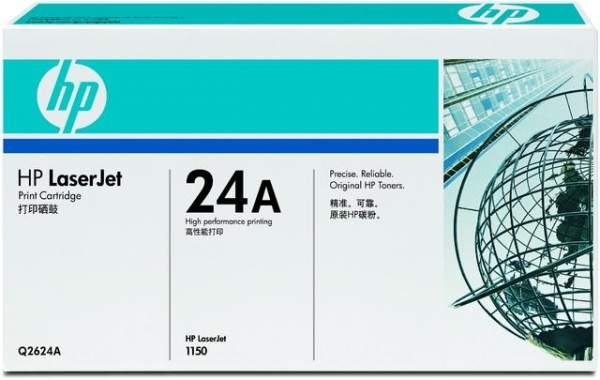 Toner HP 24A Q2624A schwarz 2.500 Seiten f. LaserJet 1150 Serie