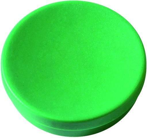 Magnet rund Ø 25mm Haftkraft 0,425kg grün (Pckg. á 10 Stück)