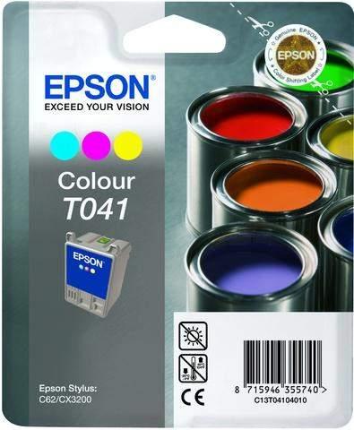 Tintenpatrone Epson T041 C13T04104010 3farbig 300 Seiten