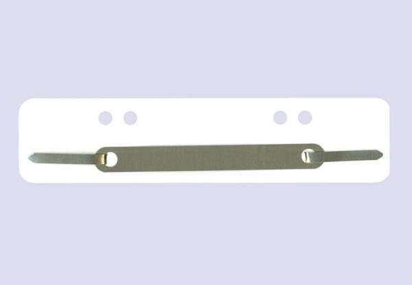 Heftstreifen PP Metalldeckleiste kurz 34x150mm weiß 100St.