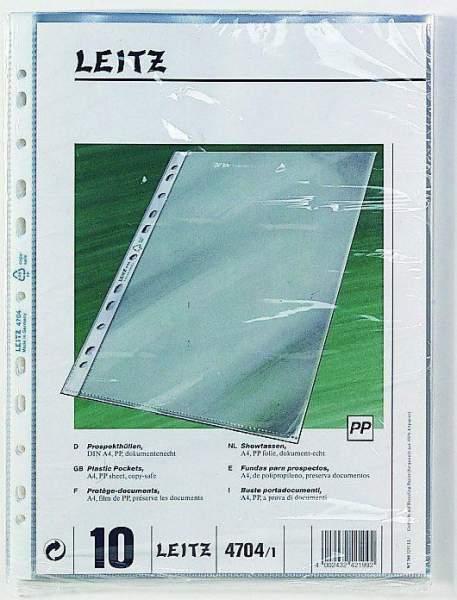 Prospekthüllen Leitz 4704 A4 oben offen 90µ PP-Folie genarbt 100 Stück