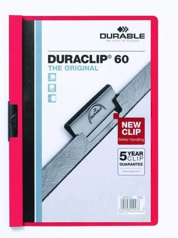"Klemm-Mappe ""Duraclip"" DIN A4 rot f. 60 Blatt / 1 Stück"
