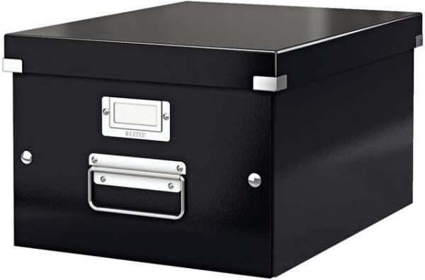 Archivbox A5 Click & Store Leitz mit Deckel 20x25x14,8cm Innenmaß schwarz