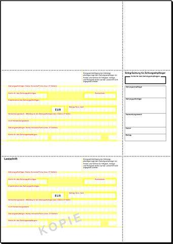 Lastschrift-Formular Sigel ZV540 f. PC Inkjet Laser / 1 Pckg.