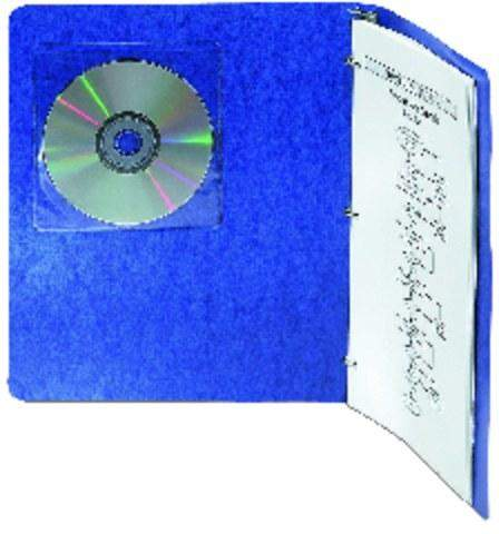 3L CD-Hüllen selbstklebend für 1CD farbl. transparent 10er Pack