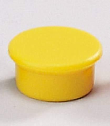 Magnete rund Ø 13mm Haftkraft 100g gelb (10 Stück)