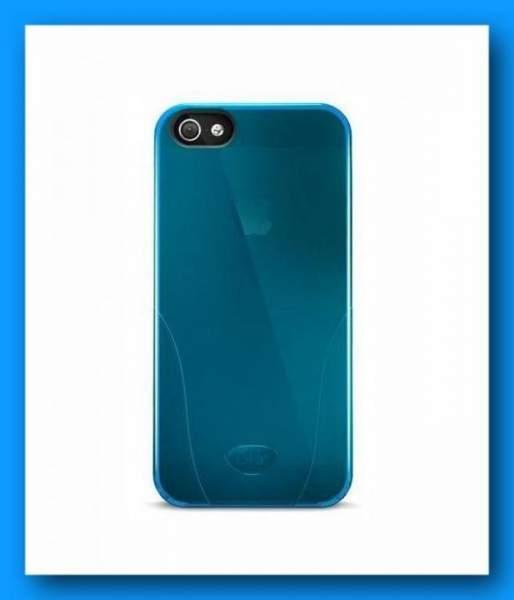 Schutzhülle iSkin Solo Cover blau für Apple iPhone 5 und iPhone 5S