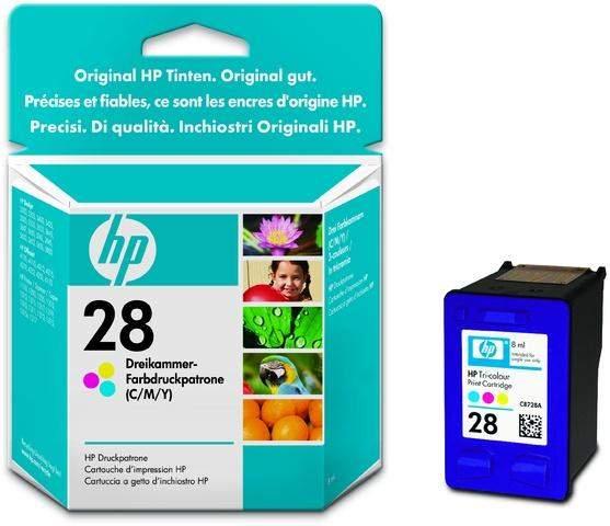 Tintenpatrone original HP28 C8728A 190 Seiten Color farbig / 1St.