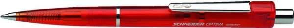 Kugelschreiber Schneider Optima rote Mine roter Schaft 10 St.