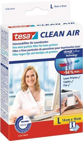 Feinstaubfilter CLEAN AIR TESA Größe L 14 x 10 cm für Drucker