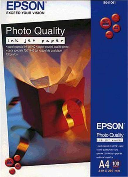 Fotopapier Inkjet-Papier Epson S041061 A4 102g Photo Quality (100 Blatt)