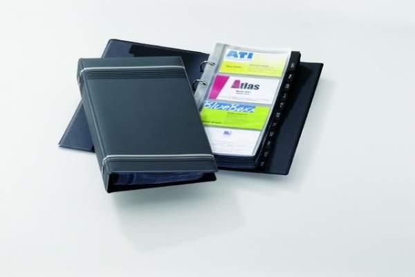 Visitenkartenringbuch Visifix 2385 anthrazit 145x255mm