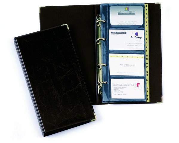 Visitenkartenringbuch Visifix 2383 schwarz 145mm x 255mm /1 St.