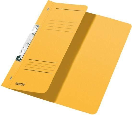 Schlitzhefter Leitz 3744 A4 250g halber Deckel kfm. Heftung gelb