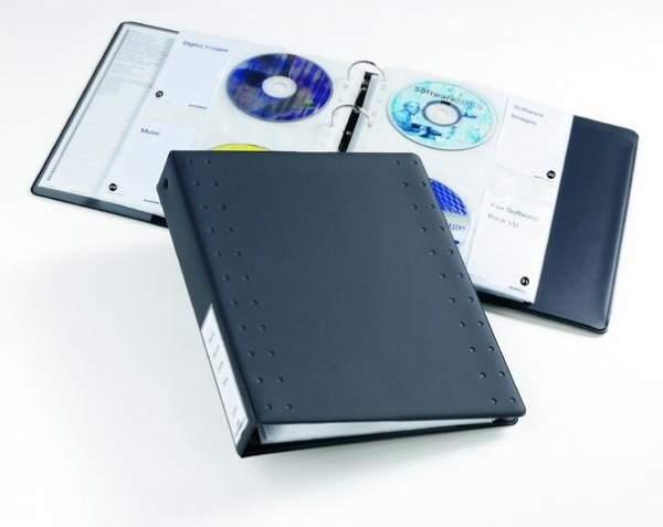 CD-Ringbuch DURABLE CD/DVD INDEX 40 für 40 CDs anthrazit