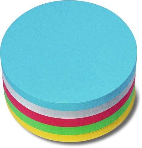 Moderationskarten rund Ø95mm farbig sortiert Pckg.=250Stück