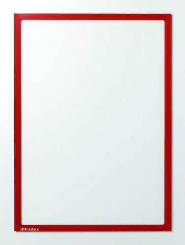 Infotaschen magnetisch DIN A4 312x225mm rot VE= 5 Stk.