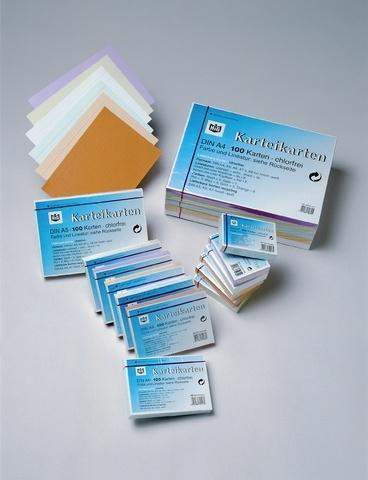Karteikarten liniert DIN A4 190 g/m² weiß (Pckg. á 100 Stück)