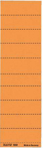 Beschriftungsschilder Leitz 1901 blanko orange 100 St.