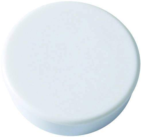 Magnet rund Ø 25mm Haftkraft 0,425kg weiß (Pckg. á 10 Stück)
