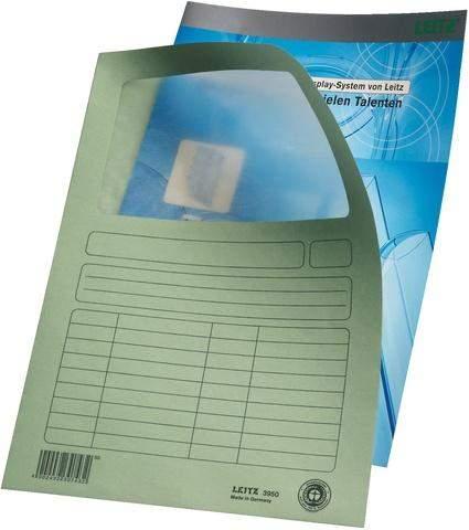 Sichtmappe A4 Karton 160g Leitz 3950 Sichtfenster Pergamin grün 100 Stück