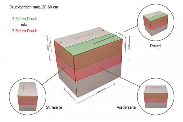 Druckbereiche Automatikboden-Karton DIN A5