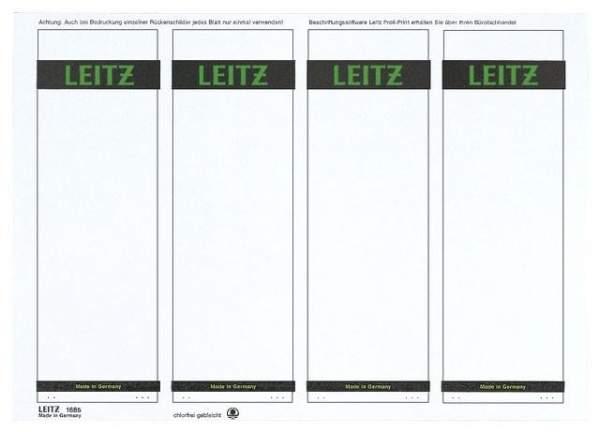 Rückenschilder Leitz 1685 PC 192x61 grau Pckg =4x100=400St.