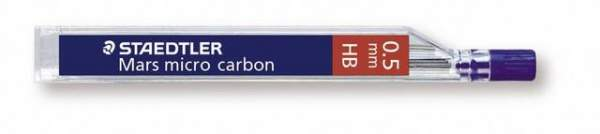 Druckbleistiftmine Mars® micro carbon Minen-Ø 0,5mm 2H Pckg. á 12 St.