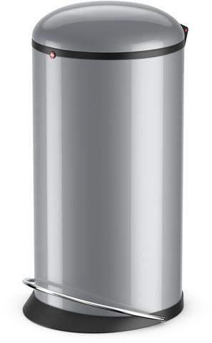 Abfalleimer Tretabfalleimer Design 20 Liter Stahlblech silber