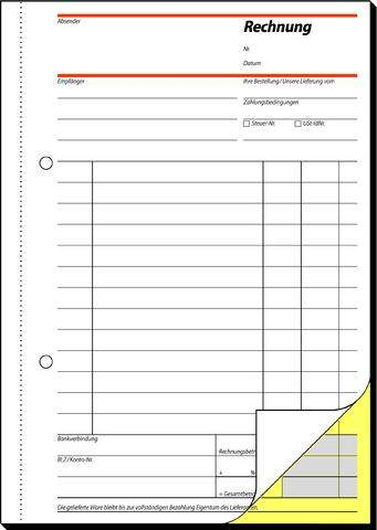 Rechnungsblock A5 Sigel 2fach sd selbstdurchschreibend 2x40Blatt